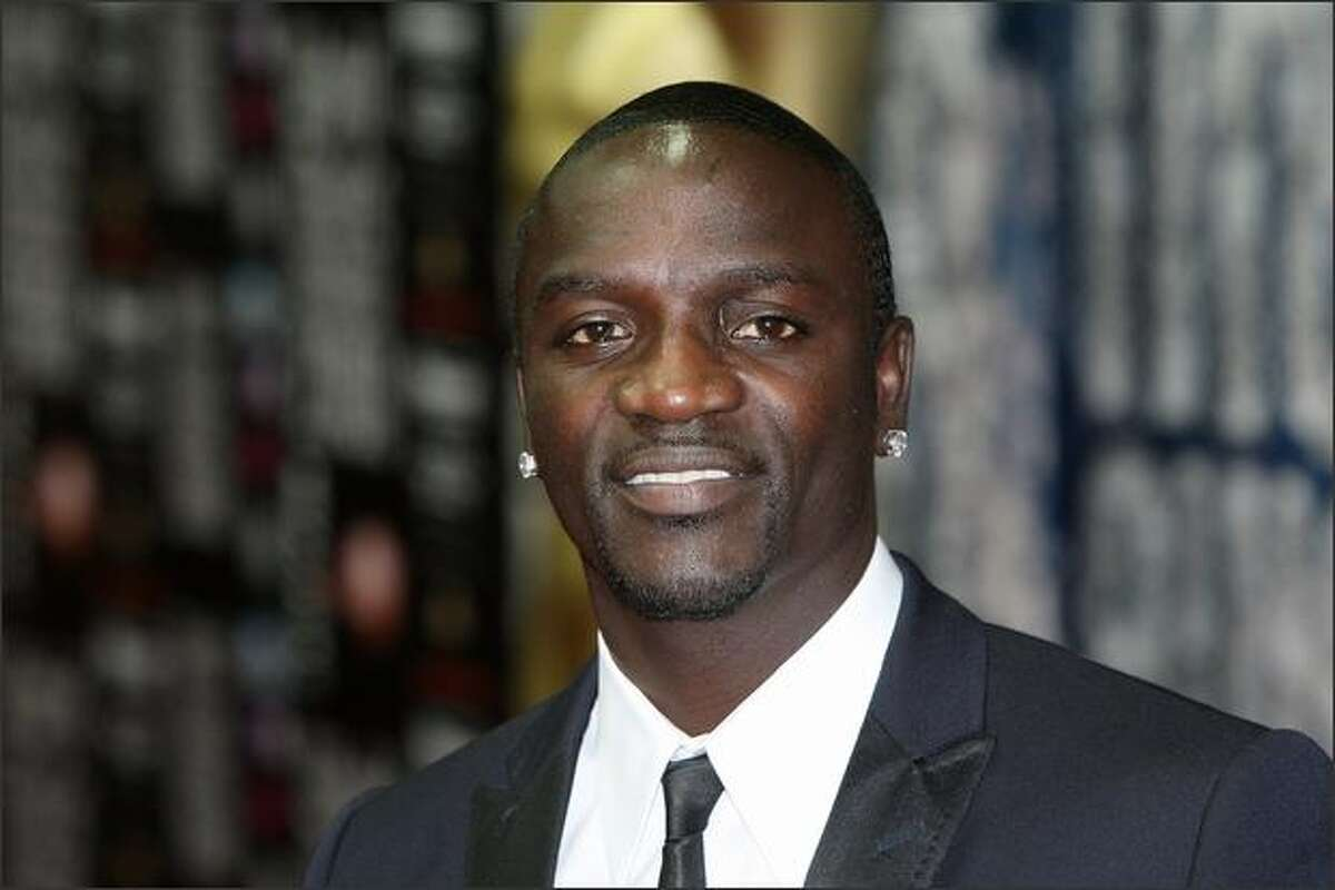 Singer Akon arrives at the World Music Awards, held at the Sporting Club on Sunday in Monte Carlo, Monaco.