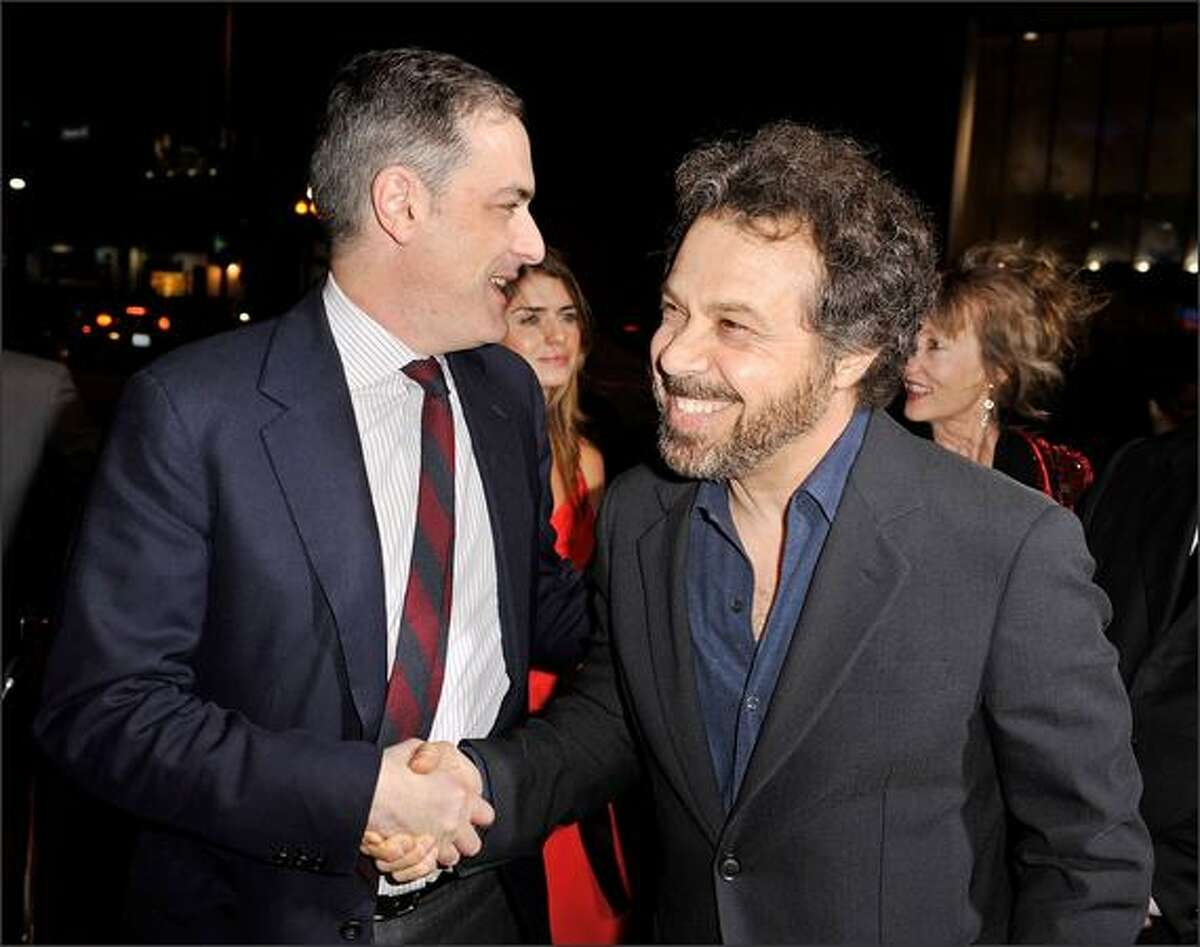 President of Paramount Film Group John Lesher (L) and writer/director Edward Zwick arrive at the 2008 AFI FEST Closing Night Gala Screening of