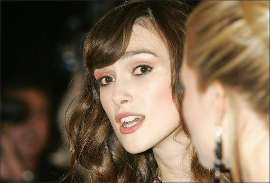 Keira Knightley arrives at the British Independent Film Awards 2008 at The Old Billingsgate on Sunday in London. Photo: Getty Images