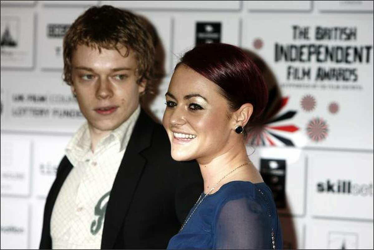 Alfie Allen and Jamie Winstone arrive at the British Independent Film Awards 2008 at The Old Billingsgate on Sunday in London.