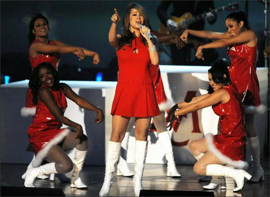 Mariah Carey performs. Photo: Getty Images