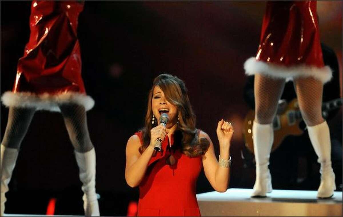 Mariah Carey performs.