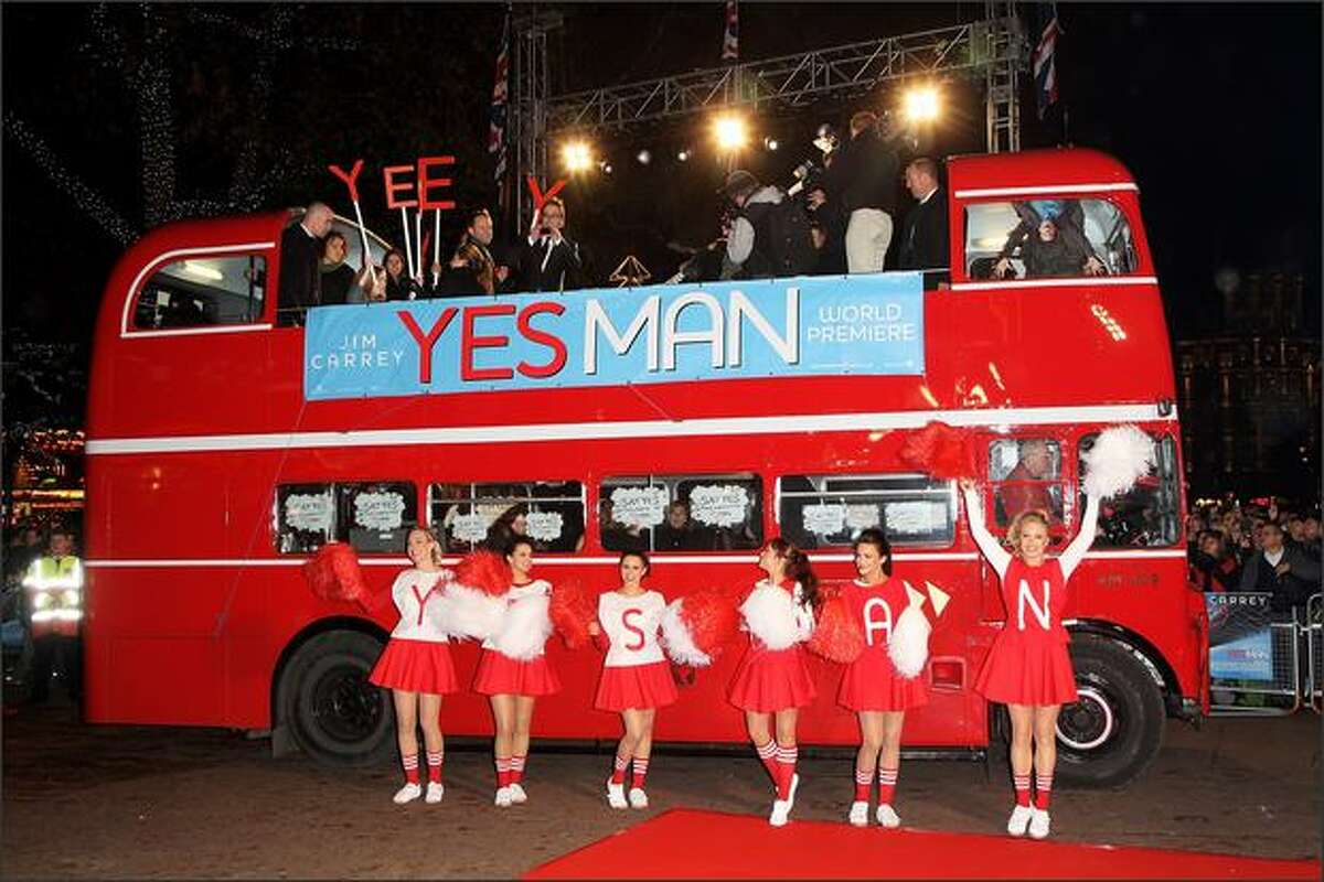 A general view at the premiere of 'Yes Man' at the Vue cinema, Leicester Square on Tuesday in London, England.
