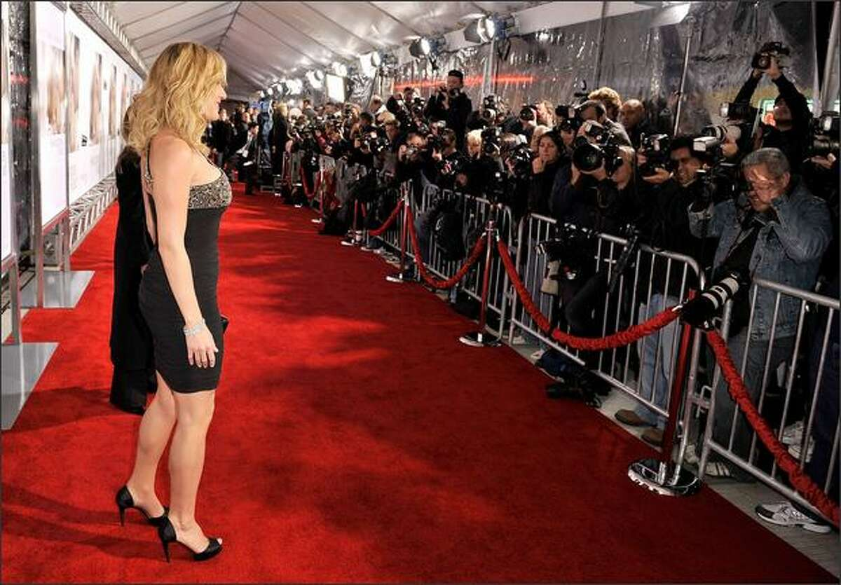 Actress Kate Winslet arrives at Paramount Vantage's Los Angeles premiere of