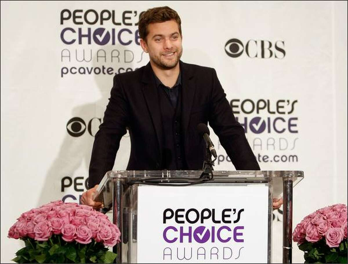 Actor Joshua Jackson speaks at the 35th annual People's Choice Awards nominations held at the Peninsula Hotel on Nov. 10, 2008, in Beverly Hills, Calif.