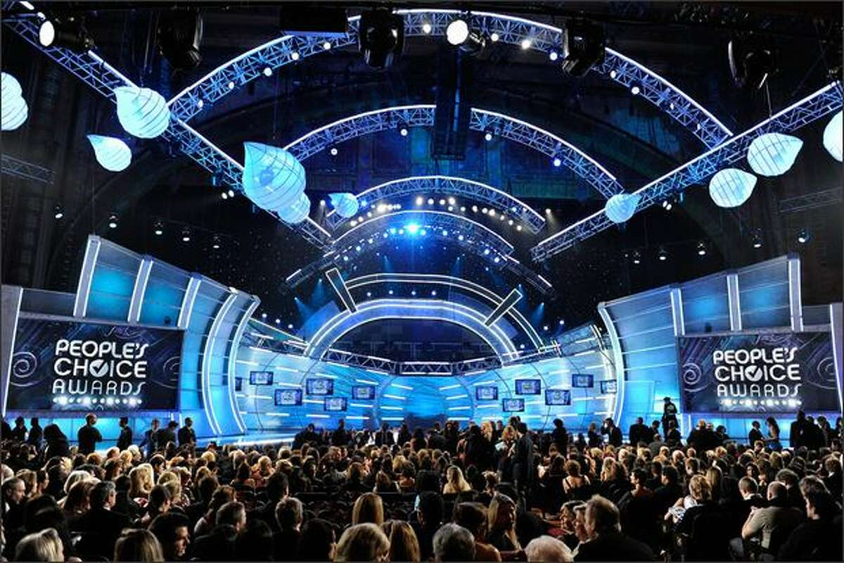 A general view of the atmosphere during the 35th annual People's Choice Awards held at the Shrine Auditorium in Los Angeles on Wednesday night.