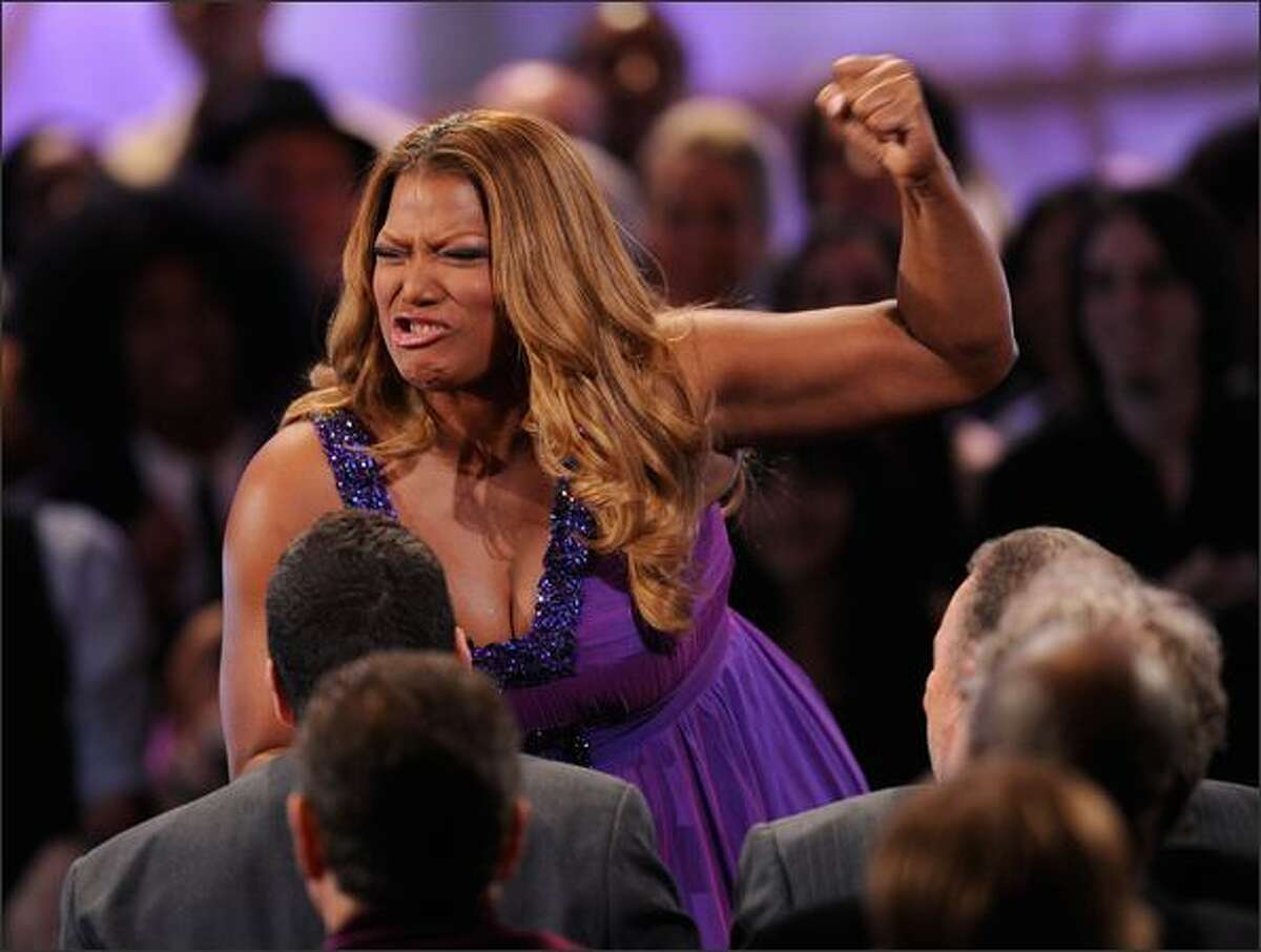 Host Queen Latifah speaks.