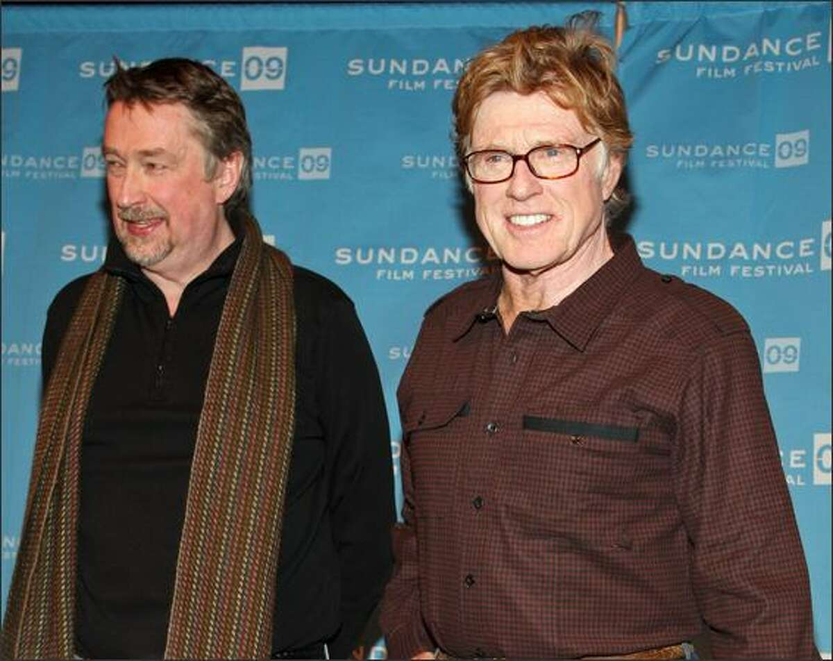 Sundance Film Festival Director Geoffrey Gilmore (L) and President and founder of Sundance Institute Robert Redford speak at the opening day press conference held at the Egyptian Theatre during the 2009 Sundance Film Festival on Thursday in Park City, Utah.