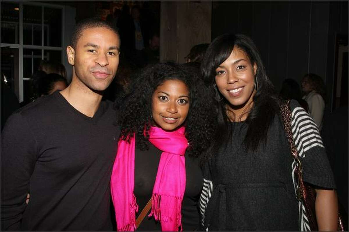 (L-R) Actors Chad Goodridge, Rebecca Jones, and actress De'Adre Aziza attend the Park City Opening Night party held at the Legacy Lodge during the 2009 Sundance Film Festival on Thursday in Park City, Utah.