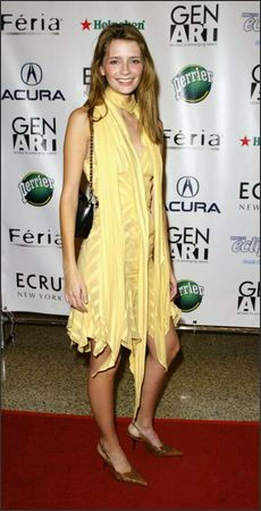 This is the eighth in an occasional series featuring stars and their ever-changing fashion styles. Actress Mischa Barton, 22, arrives at Gen Art Styles 2003 fashion and awards show at the Hammerstein Ballroom in New York, April 22, 2003.