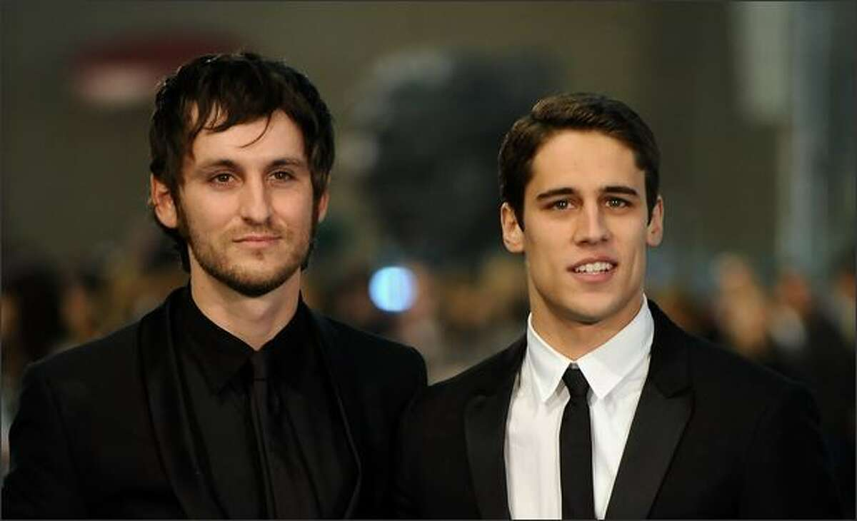 Spanish actors Raul Arevalo (L) and Martin Rivas (R) attend the Goya Cinema Awards 2009 ceremony on Sunday at the Palacio de Congresos in Madrid, Spain.