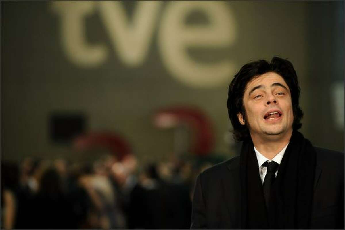 Actor Benicio del Toro attends the Goya Cinema Awards 2009 ceremony on Sunday at the Palacio de Congresos in Madrid, Spain.