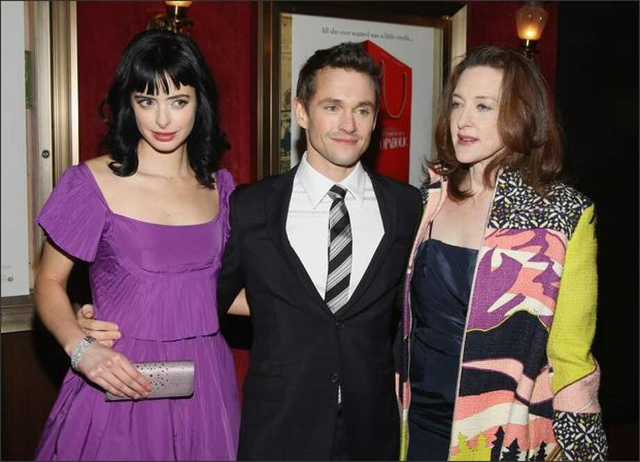 Actors Krysten Ritter, Hugh Dancy and Joan Cusack, all of whom are in the film, attend the premiere. Photo: Getty Images