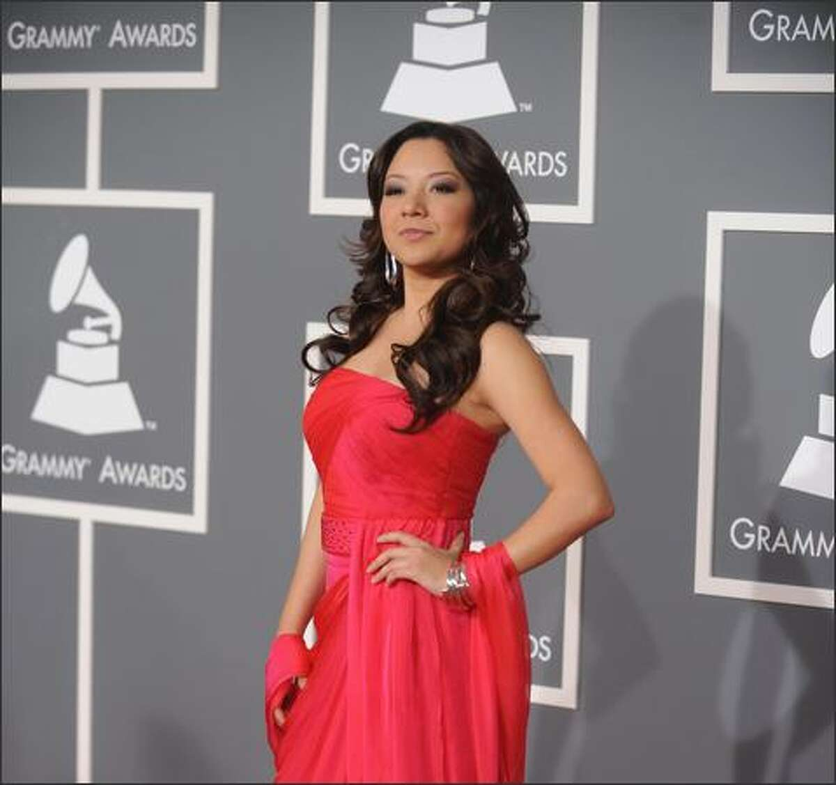 Nadia, nominated for Best Regional Mexican Album, arrives.