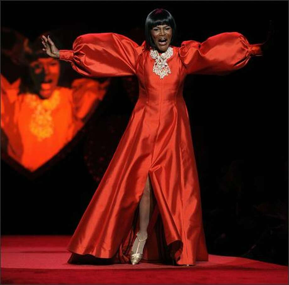 Actress Cicely Tyson models a b. michael design during the Heart Truth Red Dress Collection 2009 Fashion Show at the Mercedes Benz Fashion Week in New York. Photo: Getty Images