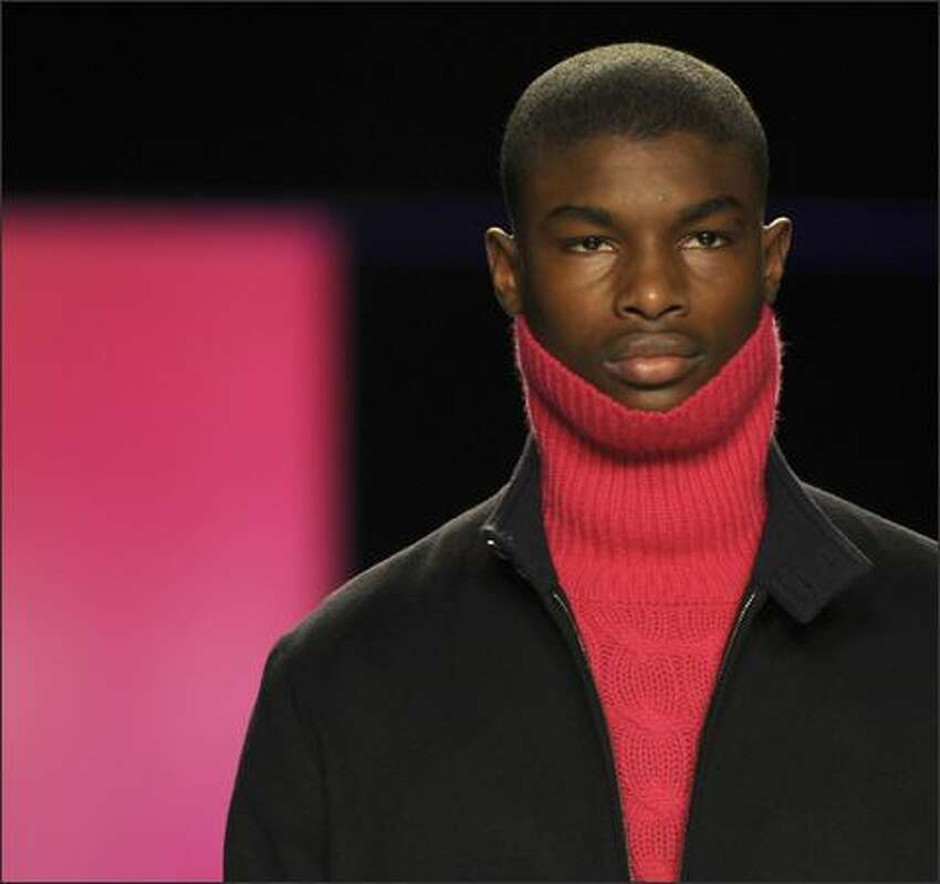 A model displays the fashion of Tommy Hilfiger during his 2009 Fall Show at Bryant Park during Mercedes Benz Fashion Week in New York.
