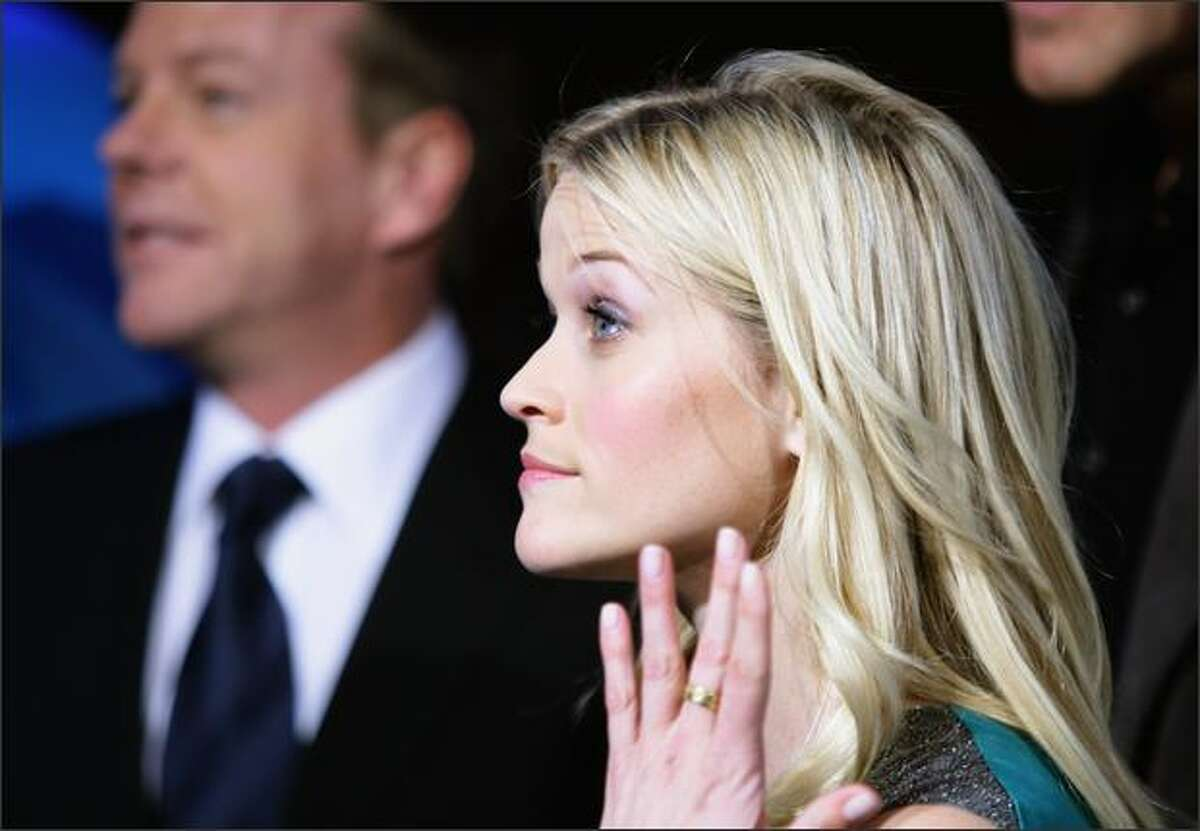 Actress Reese Witherspoon attends the 'Monsters Vs. Aliens' German Premiere at the Colosseum in Berlin, Germany.