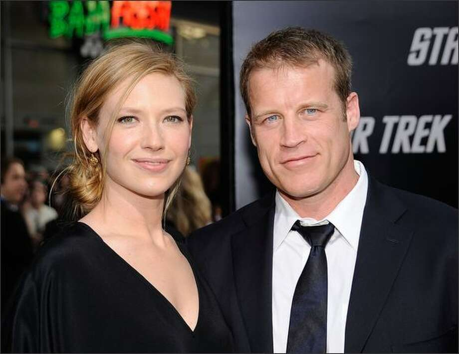 "Actors Anna Torv and Mark Valley arrives at the premiere of Paramount's ""Star Trek"" at Grauman's Chinese Theatre, Hollywood, California. Photo: Getty Images"