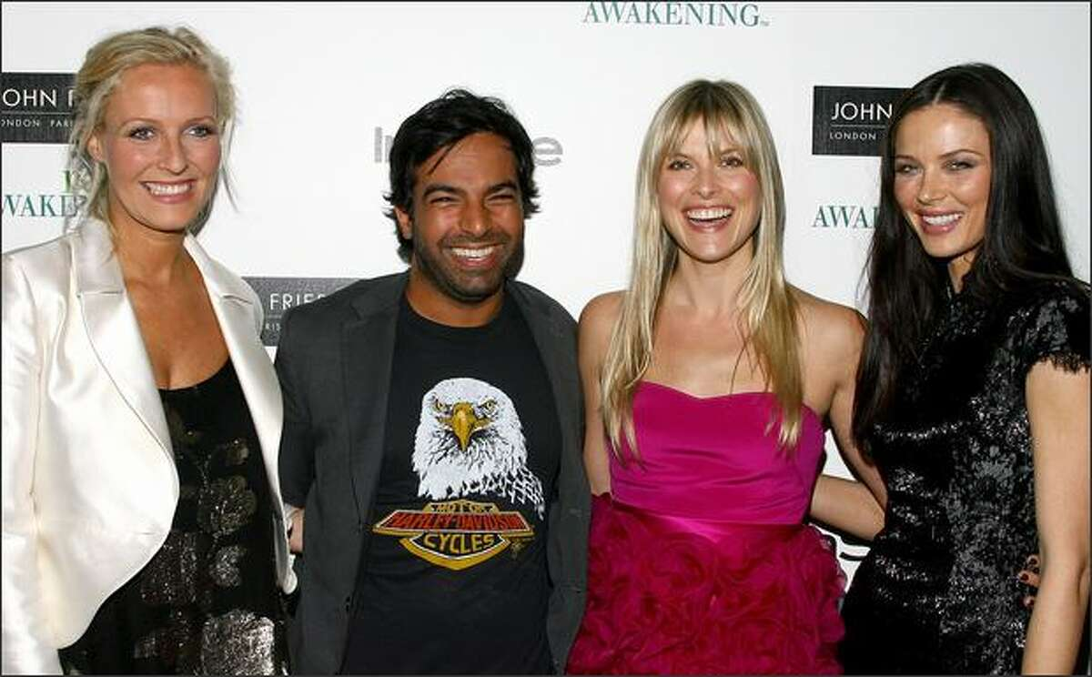 (L-R) Designer Keren Craig, John Frieda's celebrity hair stylist Harry Josh, actress Ali Larter and designer Georgina Chapman attend the InStyle Hair Issue launch party hosted by John Frieda Root Awakening at Hotel Gansevoort in New York City.