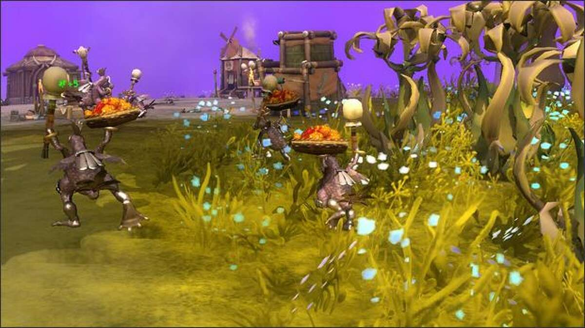 """A scene from the Tribe Stage of """"Spore."""" (Electronic Arts)"""