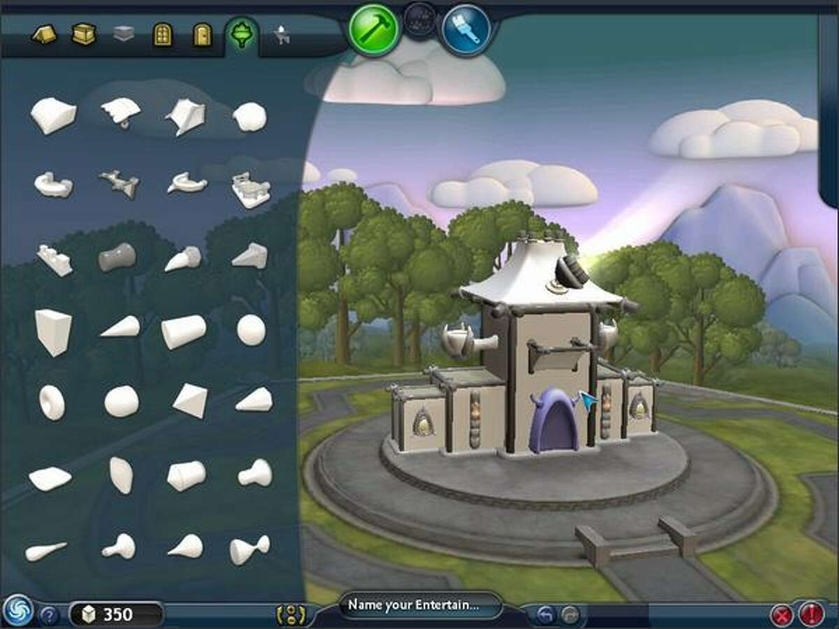 """""""Spore's building creator allows players to design the buildings their civilization inhabits from the ground up. (Electronic Arts)"""