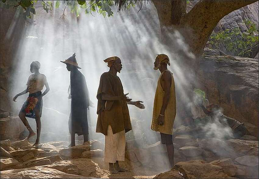 Members of the Dogon Tribe in Mali. Art Wolfe / Edge of the Earth Productions, LLC