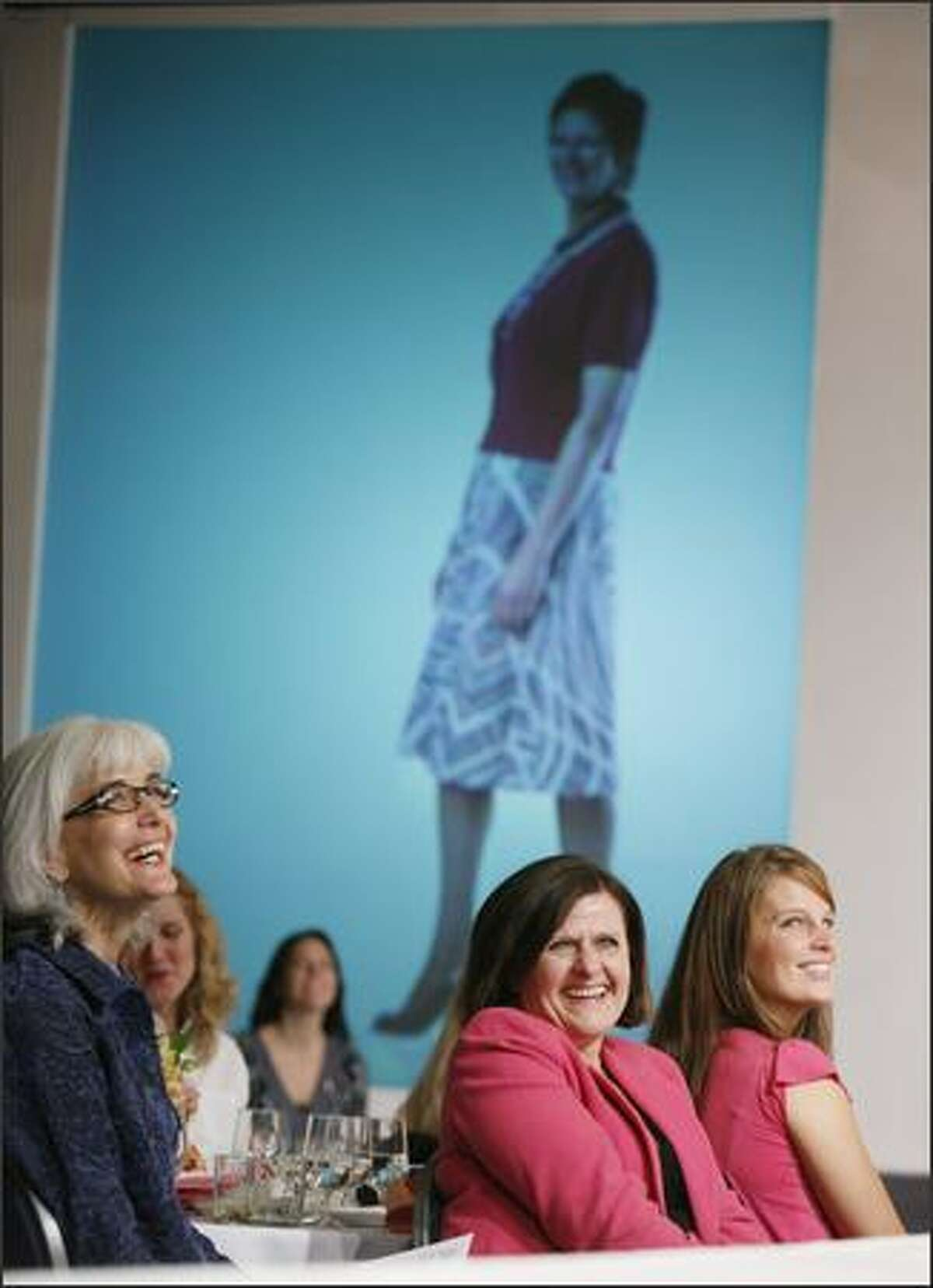 A sold-out audience watches the Macy's Breast Cancer Survivor Fashion Show.