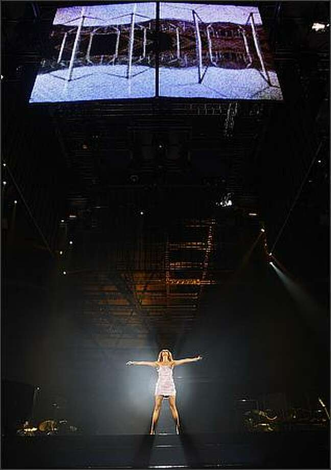 Celine Dion performs at the Tacoma Dome. Photo: Brad Vest, Seattle Post-Intelligencer
