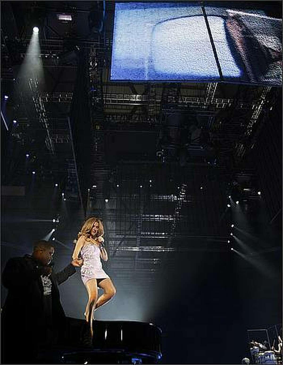 Celine Dion performs at the Tacoma Dome.