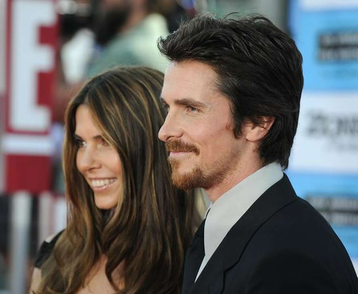 Actor Christian Bale and his wife Sibi Blazic arrive at the Los Angeles Film Festival for the premiere of