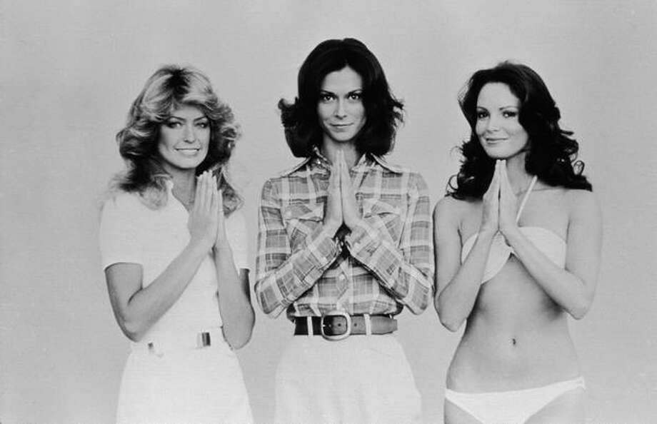 """Hello, Angels."" From left to right, Farrah Fawcett, Kate Jackson and Jaclyn Smith starred in ""Charlie's Angels,"" which ran from 1976 to 1981.  Photo: Getty Images"