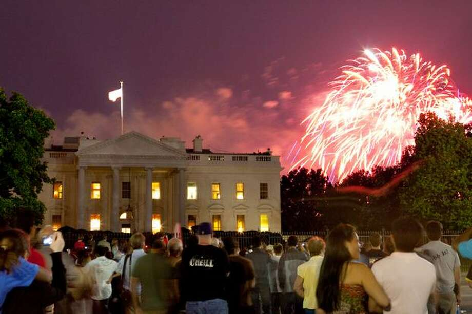 Fireworks explode over the White House. Photo: Getty Images