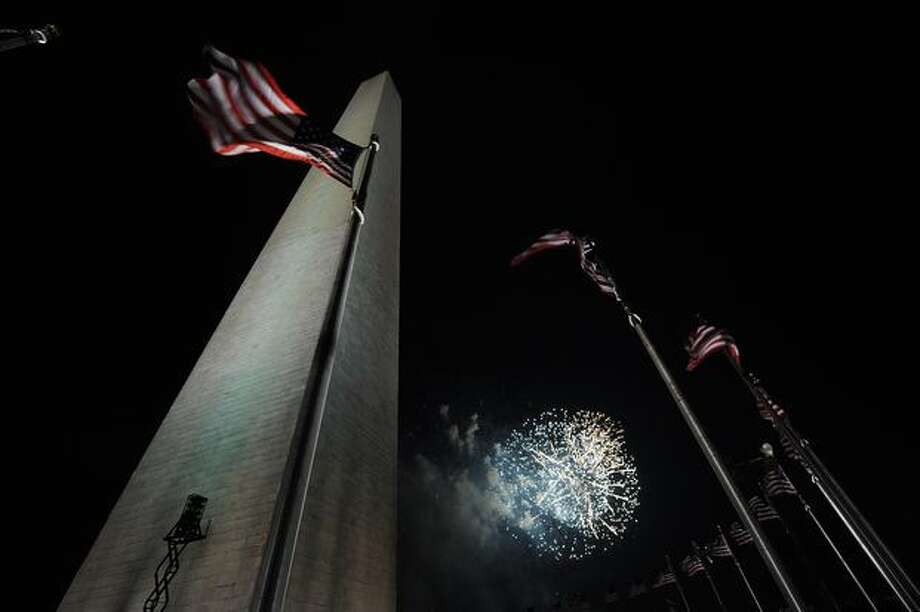 Fireworks illuminate the sky above the National Mall. Photo: Getty Images