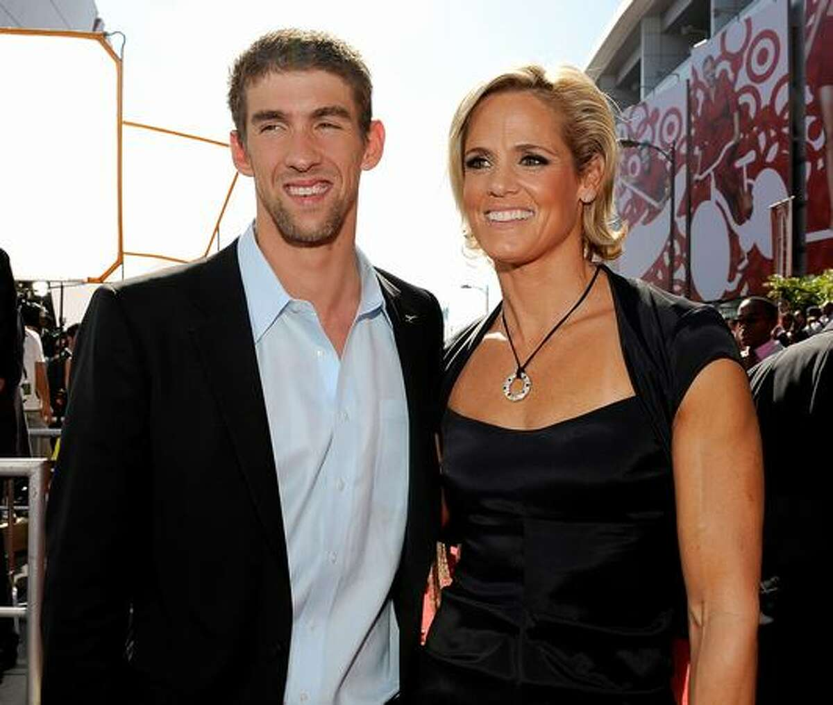 Olympic swimmers Michael Phelps and Dara Torres arrive. (Photo by Kevork Djansezian/Getty Images for ESPY