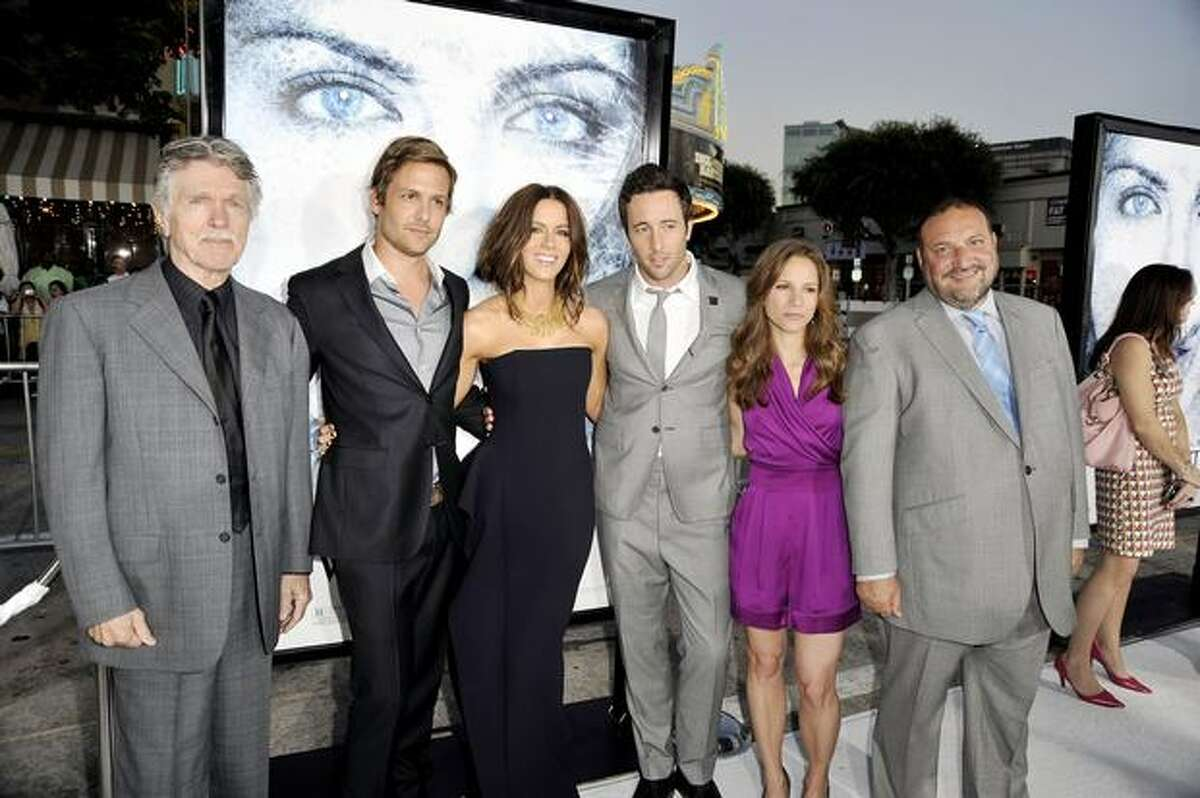 (L-R) Actors Tom Skerritt, Gabriel Macht, Kate Beckinsale, Alex O'Loughlin, producers Susan Downey and Joel Silver pose at the premiere of Warner Bros. Pictures'