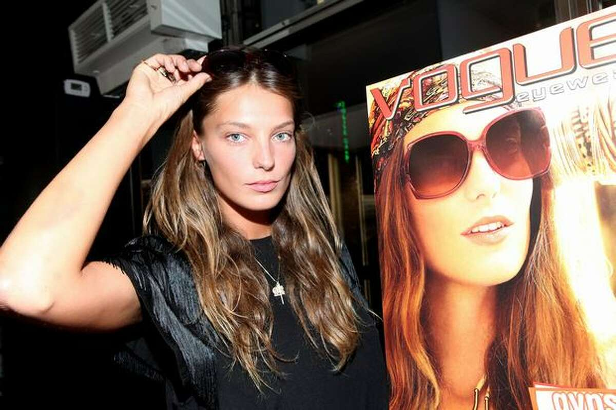 Model Daria Werbowy attends the celebration of Fashion's Night Out with Sunglass Hut & Vogue Eyewear at Sunglass Hut - Times Square.