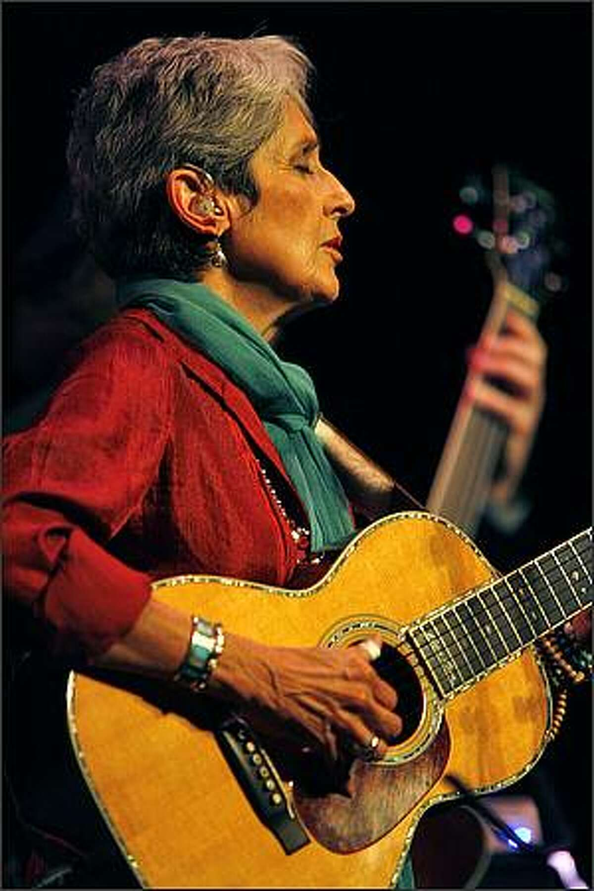 Joan Baez plays The Moore Theater in Seattle to promote her twenty-fourth studio album