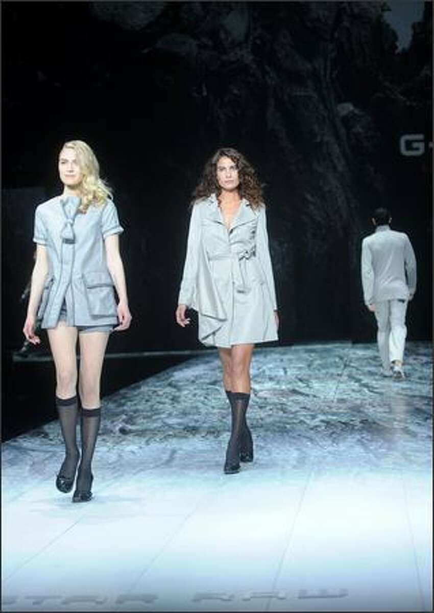 Models walk the runway at the G Star Spring 2009 fashion show during Mercedes-Benz Fashion Week at the Park Avenue Armory in New York on Thursday.