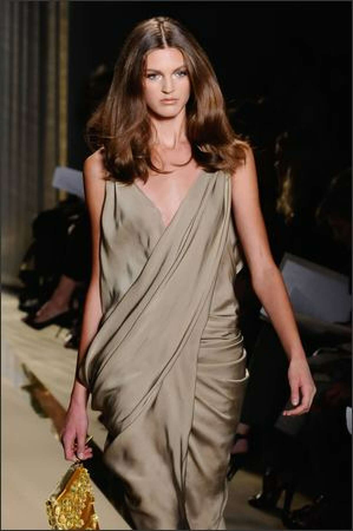 A model walks the runway at the Donna Karan Collection Spring 2009 fashion show during Mercedes-Benz Fashion Week in New York City.