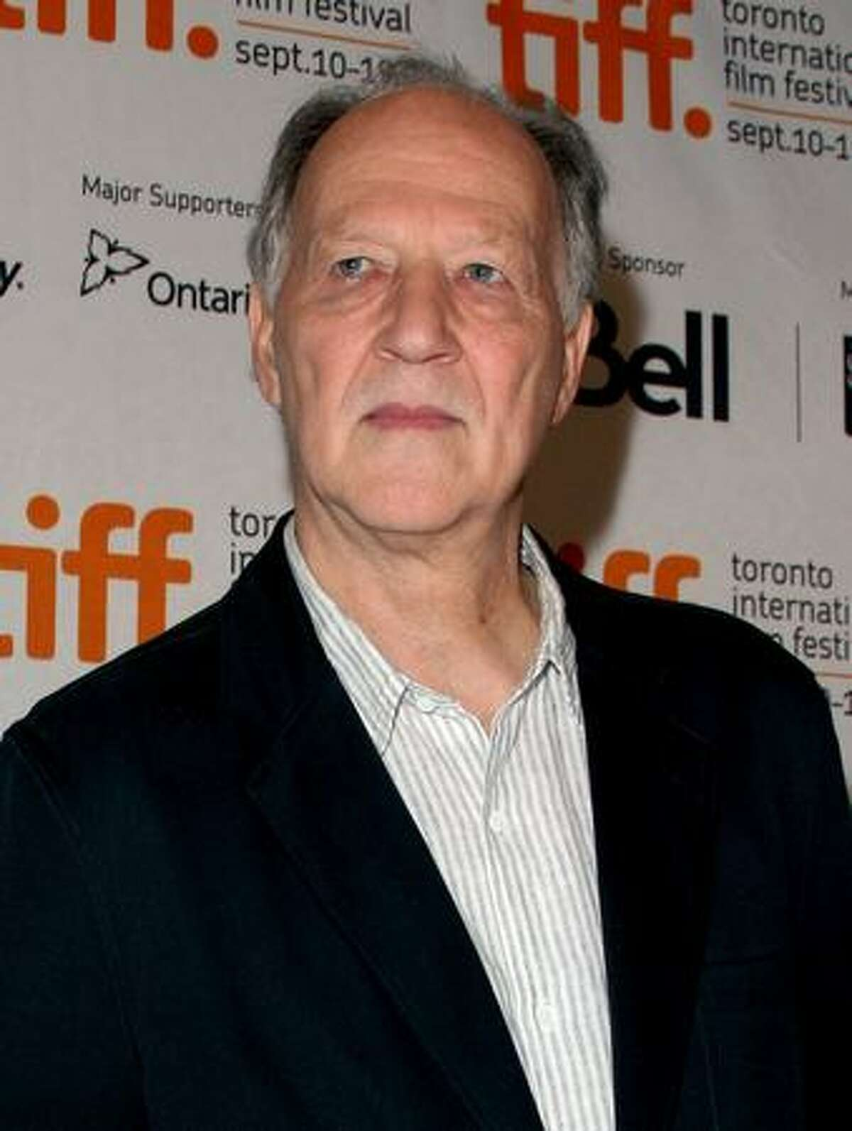 Director Werner Herzog speaks during the