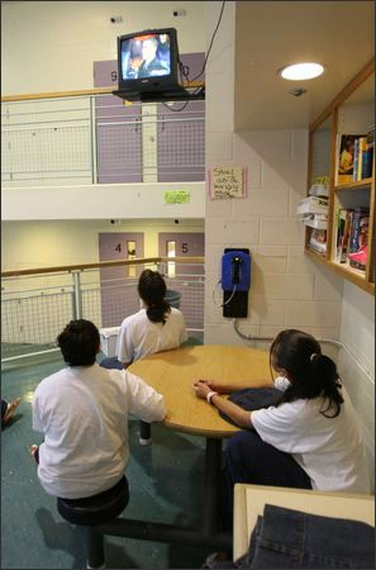 A view inside the King County Youth Services Center, where Seattle Public Schools operates the Alder Academy.