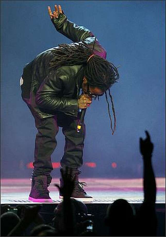 Lil Wayne performs at KeyArena in Seattle on Sunday, January 25, 2009. Photo: Dan DeLong, Seattle Post-Intelligencer