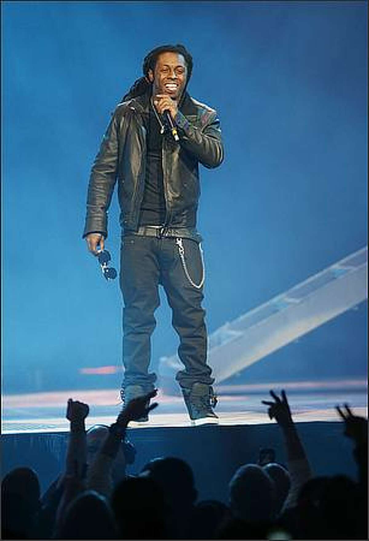 Lil Wayne performs at KeyArena in Seattle on Sunday, January 25, 2009.