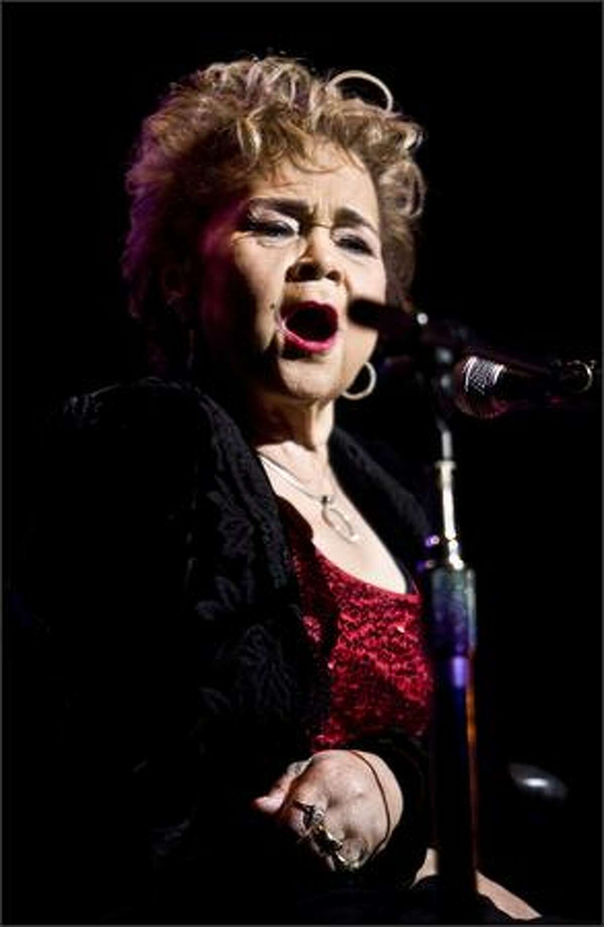 Etta James and the The Roots Band perform at the Paramount on Wednesday.
