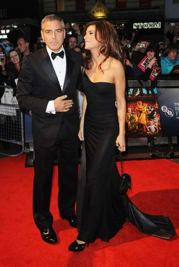 Actor George Clooney and girlfriend Elisabetta Canalis attend the world premiere of 'Fantastic Mr. Fox' and the opening gala of the Times BFI London Film Festival at the Odeon Leicester Square in London, England. Photo: Getty Images