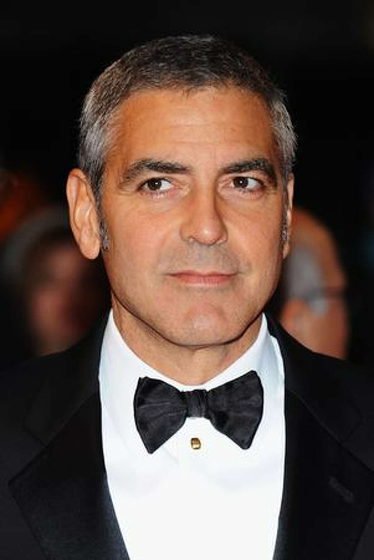 Actor George Clooney attends the world premiere of 'Fantastic Mr. Fox' and the opening gala of the Times BFI London Film Festival at the Odeon Leicester Square in London, England.