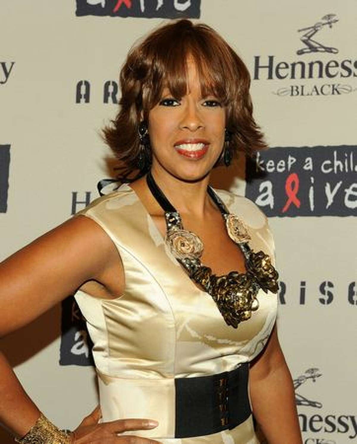 Gayle King attends Keep A Child Alive's 6th Annual Black Ball at Hammerstein Ballroom in New York City.