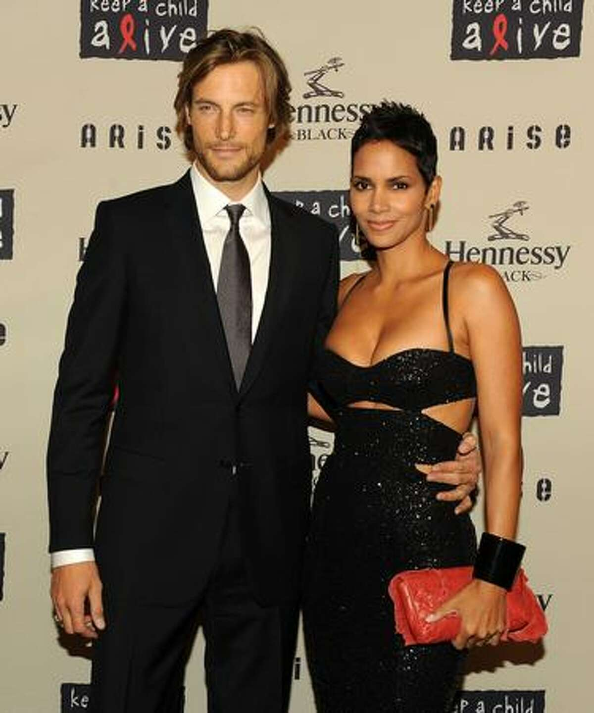 Model Gabriel Aubry and girlfriend actress Halle Berry attend Keep A Child Alive's 6th Annual Black Ball at Hammerstein Ballroom in New York City.