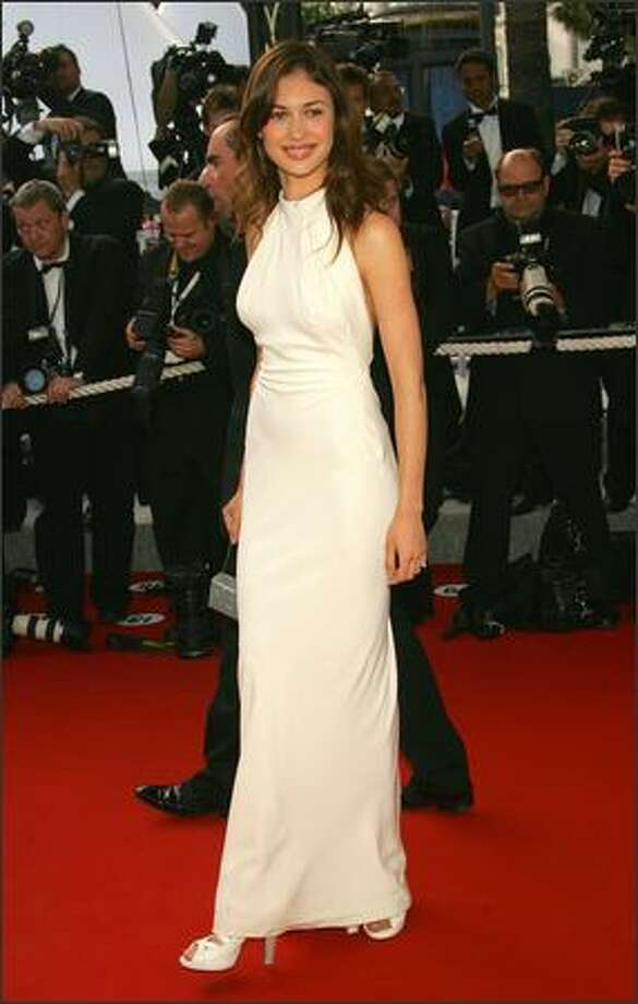 "Olga Kurylenko attends the Closing Ceremony and premiere of ""Chromophobia"" at the Palais during the 58th International Film Festival May 21, 2005 in Cannes, France. Photo: Getty Images"