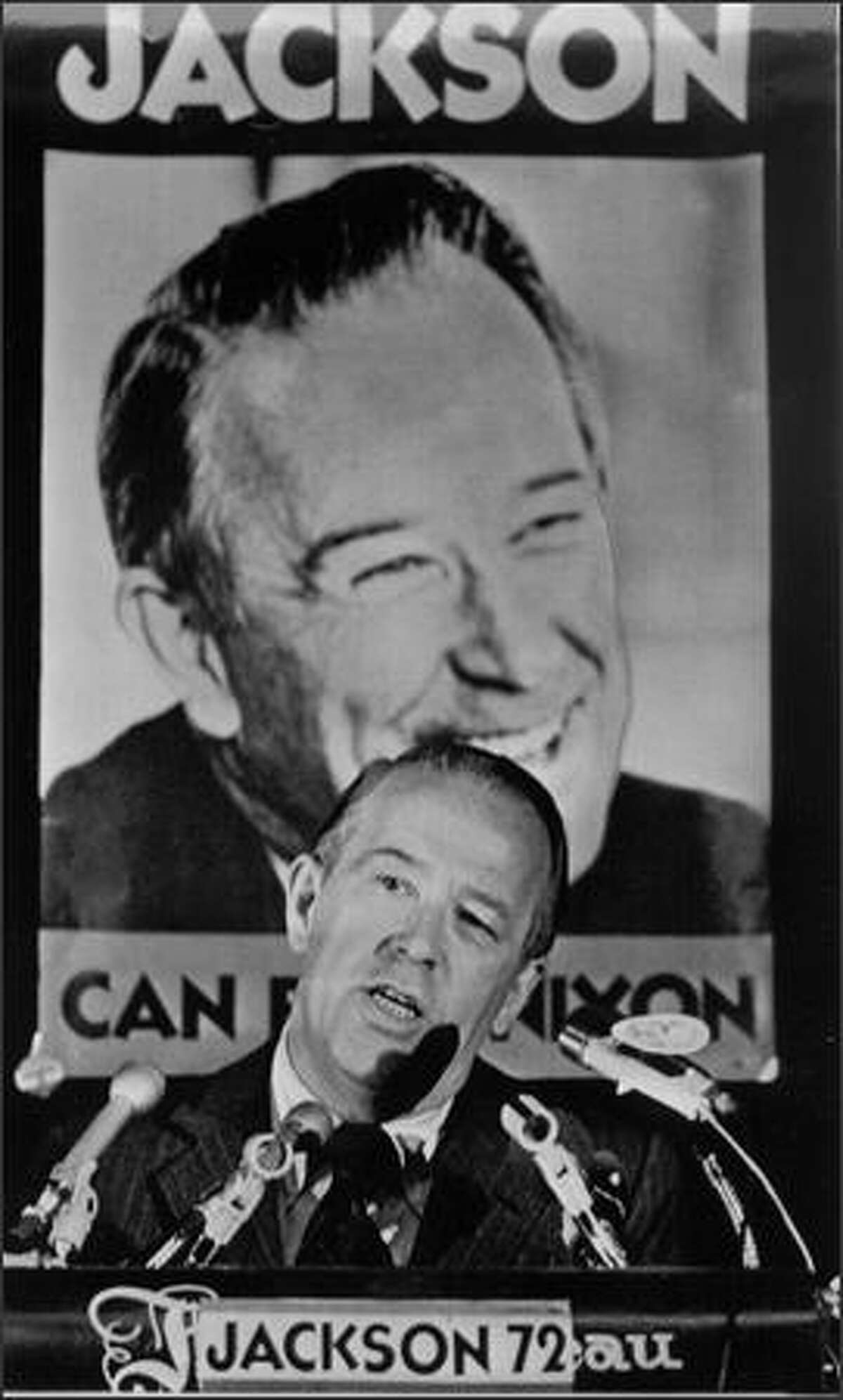 Sen. Henry M. (Scoop) Jackson, ca. 1972. (Seattle Post-Intelligencer photo)
